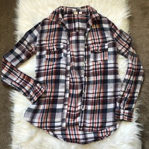 Melrose and Market Plaid Long Sleeve Shirt